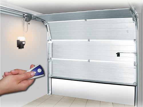 Puerta automática seccional servidoors