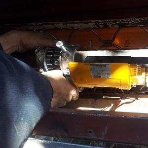 Motor casi instalado
