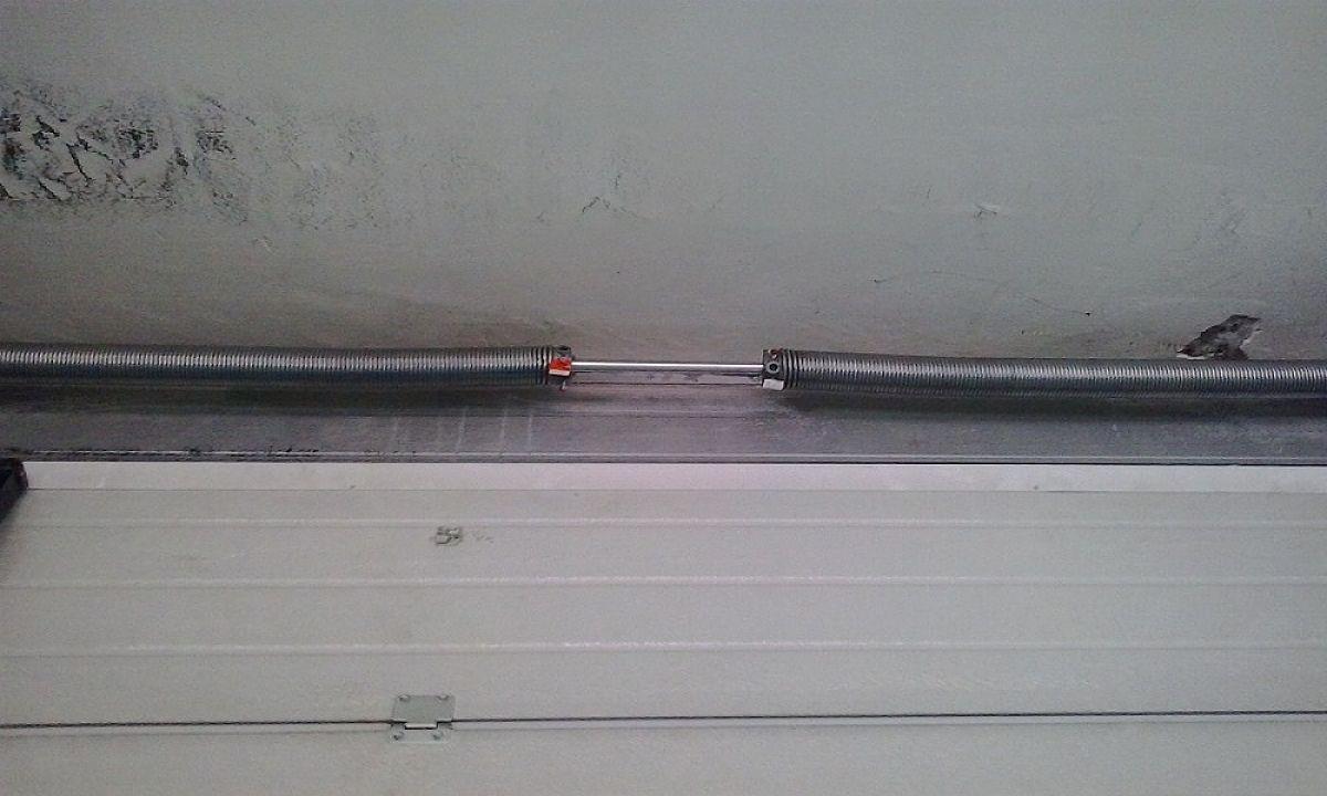 Muelle puerta seccional materiales de construcci n para - Muelle para puertas ...
